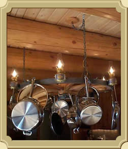Wheel Ceiling Lamp with pots and pans